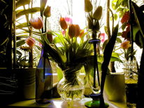 Tulpen, Abend, Outsider art, Digitale kunst