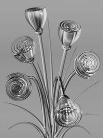 Reflex, Blüte, Schwarzweiß, Blumenstrauß