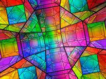 Innenansicht, Farbverlauf, Vielfarbig, Farbsättigung