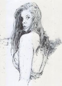Frau, Haare, Mädchen, Erotik