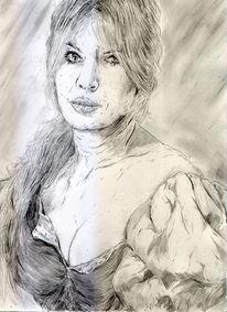 Dame, Portrait, Nostalgie, Erotik