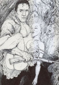 Mann, Zombie, Evil dead, Frau