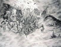 Pferde, Wolken, Apokalypse, Wiking