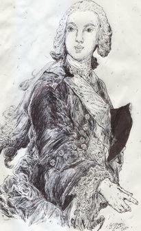 Adel, Frankreich, Dreispitz, Haare