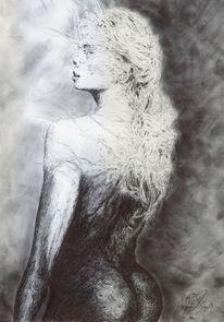 Model, Blond, Haare, Akt