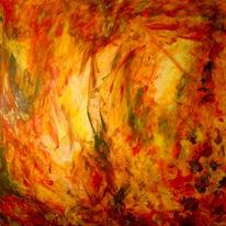 Laub, Wärme, Herbstfarben, Malerei
