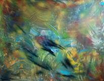 Blau, Gelb, Grün, Malerei