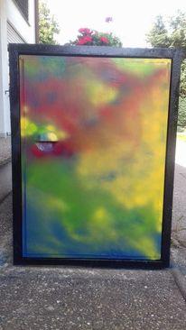 Mülltonne, Abstrakt, Sprühen, Acrylmalerei