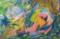 Rosa, Gelb, Grün, Malerei