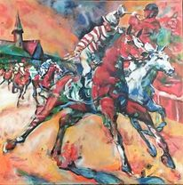 Jockey, Pferderennen, Kentucky derby, Pferde