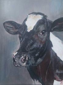 Milchkuh, Kuh, Holsteiner, Malerei