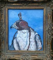Falke, Vogel, Himmel, Malerei