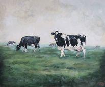 Kuh, Kuhgemälde, Holsteiner, Weide
