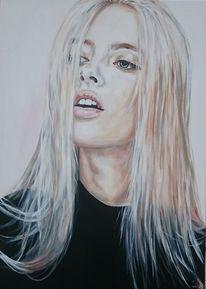 Model, Blond, Haare, Frau