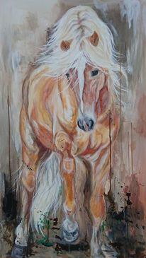Haflinger, Pferde, Pony, Malerei