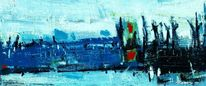 Eu, Gemälde, Landschaftsmalerei, Hafen