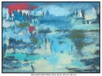 Blau, Malerei, Wolken, Landschaft