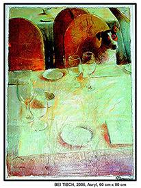 Reinbek, Grün, Orange, Malerei