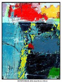 Blau, Grün, Acrylmalerei, Schatten