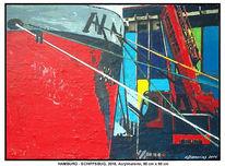 Gemälde, Wetter, Verkehr, Deutschland