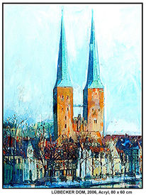 Fluss, Hamburg, Gemälde, Kirche