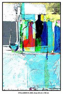 Hamburg, Weiß, Acrylmalerei, Rot schwarz