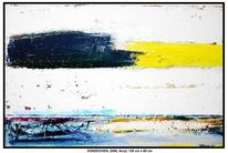 Acrylmalerei, Winter, Baum, Gelb