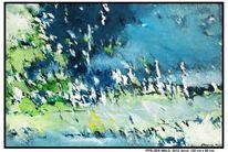 Baum, Schatten, Farben, Acrylmalerei
