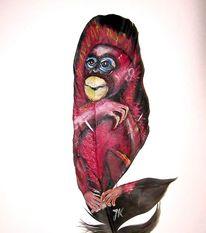 Affe, Malerei, Feder malerei