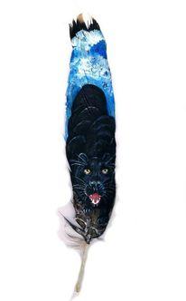 Jaguar, Panther, Schwarz, Malerei