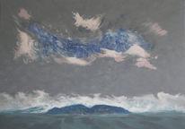 Wasserlandschaft, Malerei neu, Wasserlandschaft wasser licht, Malerei
