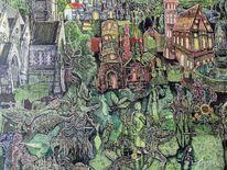 Baumwesen, Fabelwesen, Surreal, Märchenwelt