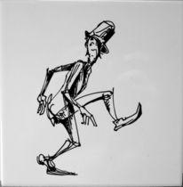 Menschen, Schwarzweiß, Bewegung, Zeichnung