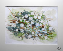 Aquarellmalerei, Tautropfen, Zauberblasen, Meer
