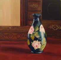Vase, Stillleben, Acrylmalerei, Malerei