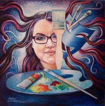 Menschen, Portrait, Frau, Fantasie