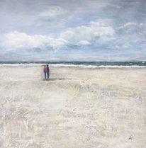 Sand, Stein, Strand, Welle