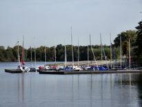Jachthafen, Dreiländersee, Segel, Boot