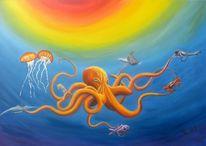 Wasser, Krake, Unterwasser, Fantasie