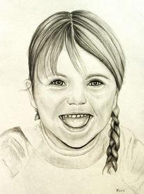 Kind, Bleisftift, Portrait, Zeichnungen