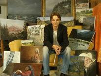 Malen, Malerei, Porträtmalerei, Landschaft