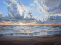 Sonnenaufgang, Landschaft, Nordsee, Strand