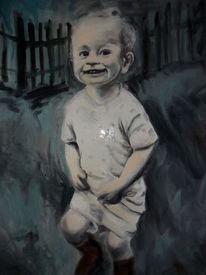 Lächeln, Licht, Kind, Malerei