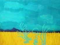 Horizont, Abstrakte elemente, Gelb, Himmel