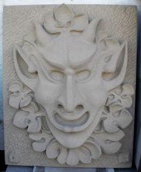 Skulptur, Abstrakt, Figural, Fratze