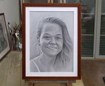 Frauenportrait, Portraitzeichnung, Zeichnungen, Personenportraits