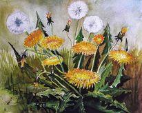 Blumen, Gesund, Aquarellmalerei, Wiese