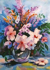 Mudau, Aquarellmalerei, Künstler artist, Blumen
