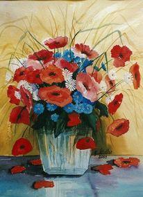Mudau, Blumen, Aquarellmalerei, Schloßau