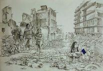 Syrien, Schloßau, Europa, Flüchtlinge